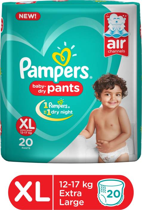 2a5dd45384 Pampers Baby-Dry Pants Diaper - XL - Buy 20 Pampers Pant Diapers for ...