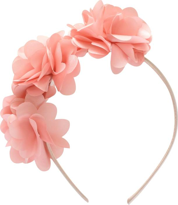 8a15caeb62e91 Stol'n Peach Three Flower Hairband: Peach Hair Band Price in India ...