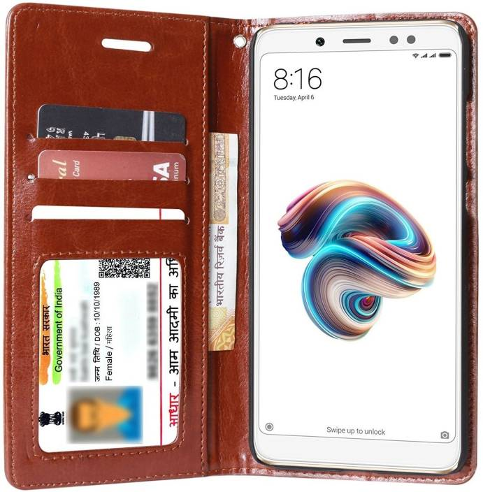 online store 0d187 ea438 Unistuff Flip Cover for Mi Redmi Note 5 Pro