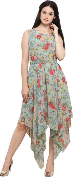 50476802a76c00 Ishin Women's A-line Green Dress - Buy Ishin Women's A-line Green ...