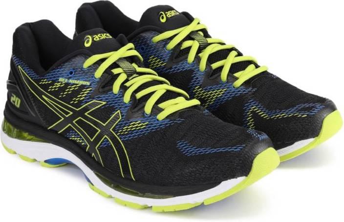 save off da7dc b3652 Asics GEL-NIMBUS 20 Running Shoes For Men (Black, Green)