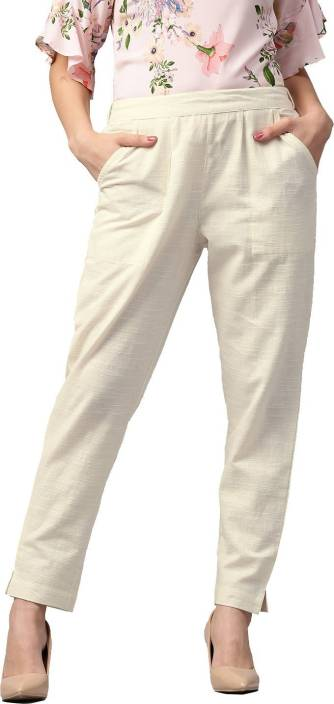 Style N Shades Regular Fit Women White Trousers