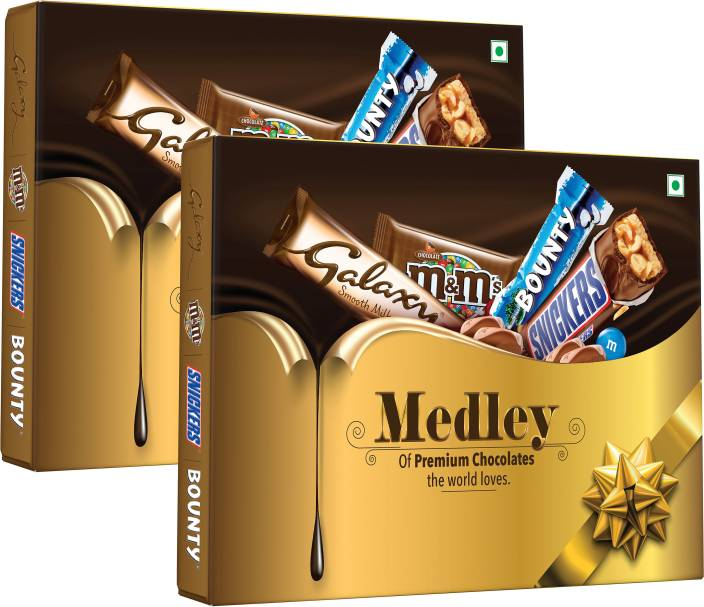 Snickers Medley Assorted Chocolate Gift Pack, 137.6 g Bars (Pack of 2, 275.2 g)