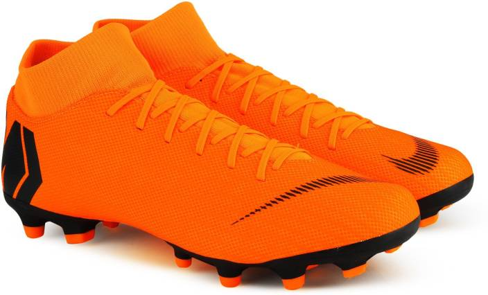 best service 5ffd5 abb81 Nike SUPERFLY 6 ACADEMY FG MG Football Shoes For Men (Orange, Black)