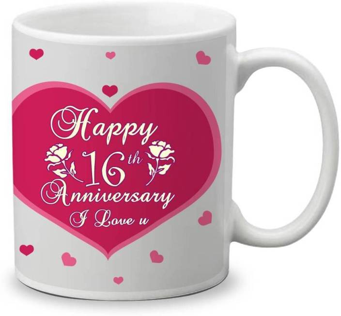 My Gifts Zone Happy 16th Anniversary I Love You Beautiful Ceramic