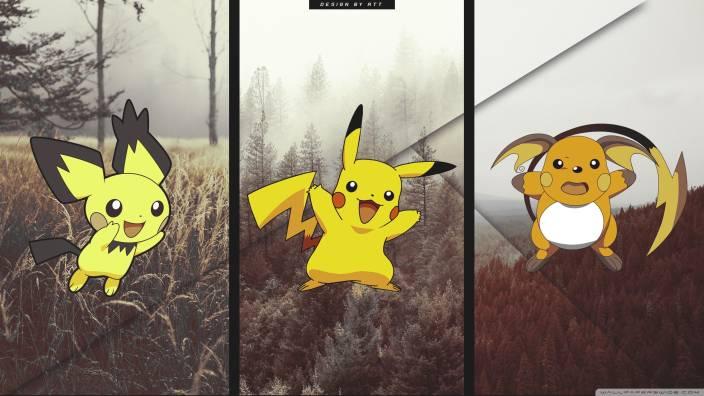Athah Anime Pokémon Pichu Pikachu Raichu 13 19 Inches Wall