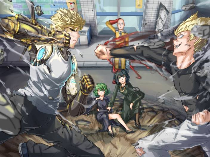 Tatsumaki OnePunchMan Anm Gr Art y Anime
