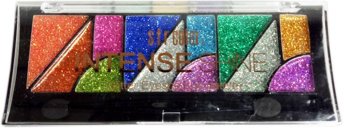 7ac4f69a8d S.F.R Color INTANSE SHINE GLITTER EYESHADOW PALETTE NO. (6364) 14 g  (MultiColor)