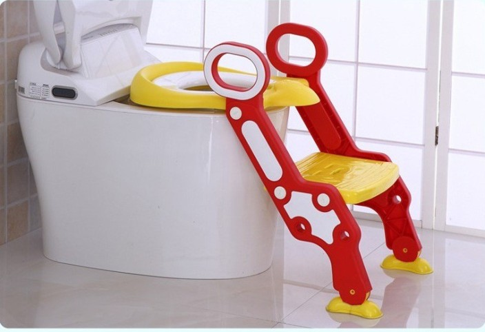 Anti-Slip Toddler Toilet Chair Step Stool Ladder Kids Safety Potty Training Seat