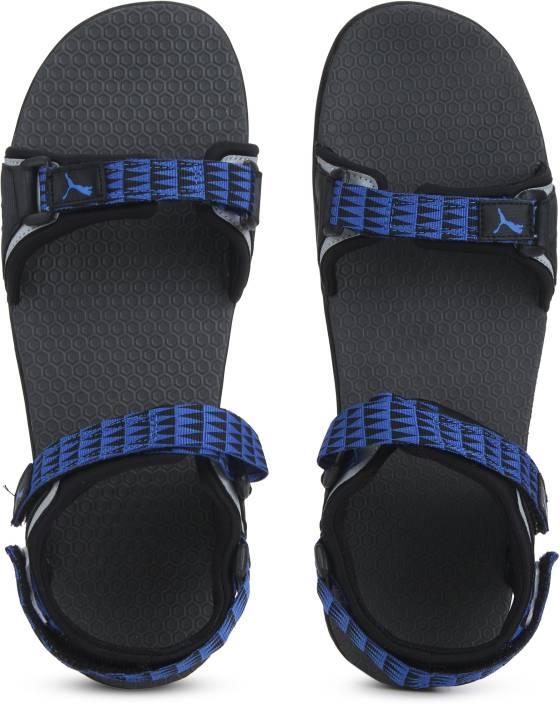 db25151c0 Puma Men Black-Dark Shadow-Royal Blue-Silver Sports Sandals - Buy Puma Men  Black-Dark Shadow-Royal Blue-Silver Sports Sandals Online at Best Price -  Shop ...