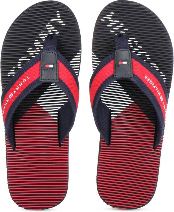 8441122f Tommy Hilfiger MASSAGE FOOTBED BEACH SANDAL Flip Flops - Buy Tommy Hilfiger  MASSAGE FOOTBED BEACH SANDAL Flip Flops Online at Best Price - Shop Online  for ...