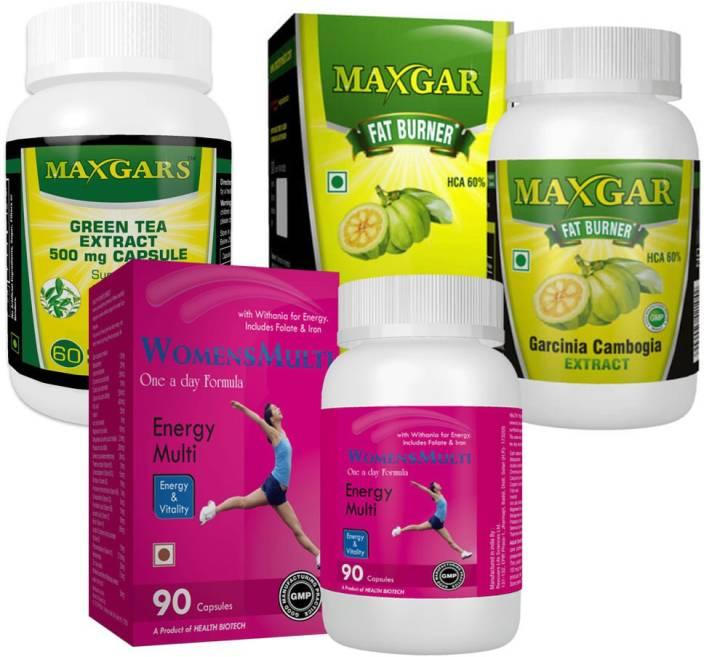 Maxgar Garcinia Green Tea Extract Womens Multivitamin Weight