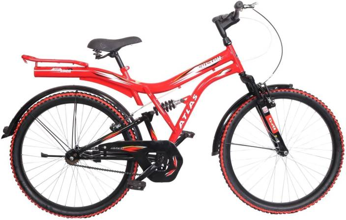 11f2acd2d95 Atlas Sketch Dual Suspension Sports Bike For Adults Red&Black 26 T Mountain  Cycle (Single Speed, Multicolor)