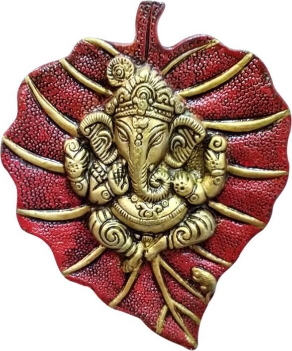 Ratnatraya 8' Inches Lord Ganesha On Red Leaf Wall/Door Hanging for Vastu Entrance | Gifts for House Warming & Wedding Ceremony Decorative Showpiece - 20 cm ...