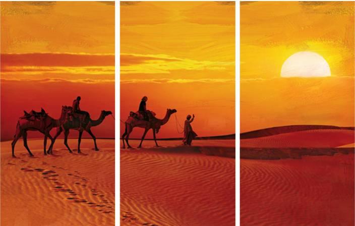 SAF CAMEL DESERT 8MM MDF PANEL Digital Reprint 18 inch x 24 inch Painting
