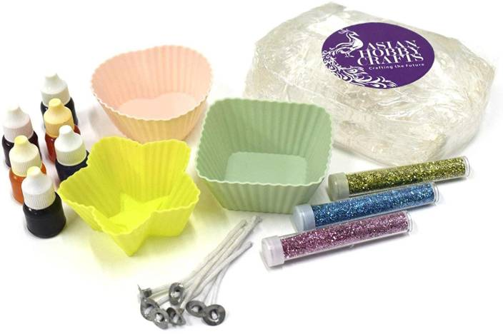 AsianHobbyCrafts Candle Making Kit Contents: Transparent Gel