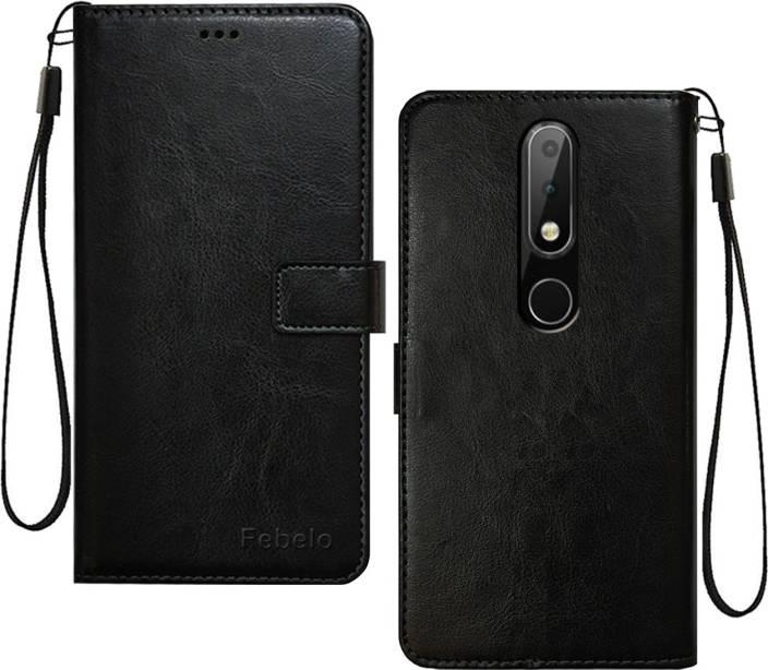 pretty nice 2f92f de1f5 Febelo Flip Cover for Nokia 6.1 Plus