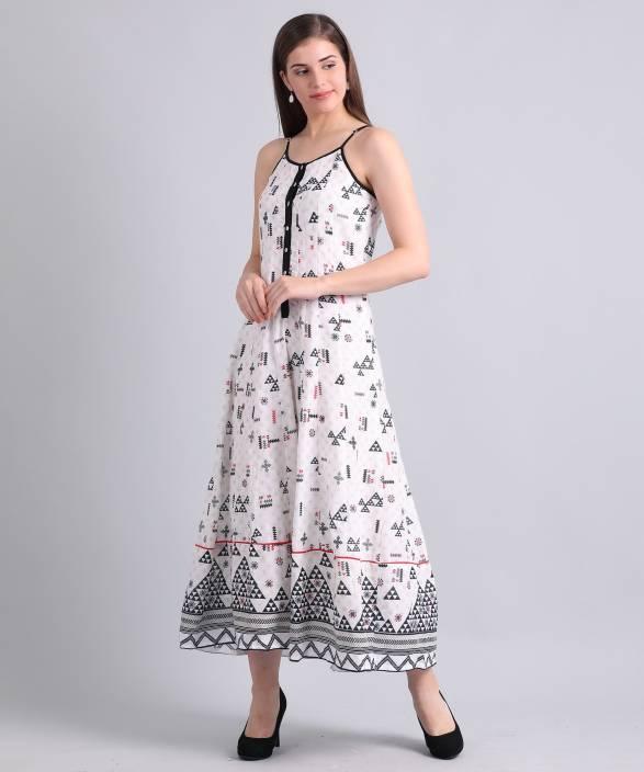 f6d219cd61cfe Biba Women's Maxi White Dress - Buy WHITE Biba Women's Maxi White ...