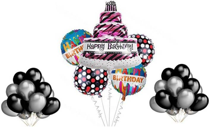 RKandroid Printed Happy Birthday Foil Balloon For Party Supplies Decoration Combo Theme Cake