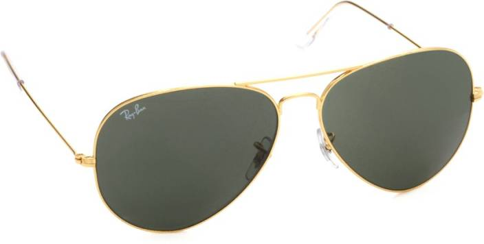 c4fdf6dff83f Buy Ray-Ban Aviator Sunglasses Grey For Men Online @ Best Prices in ...