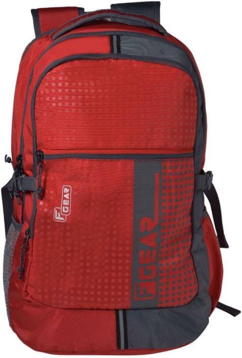 03e0b692f579 F Gear Blow with Rain Cover 32 L Laptop Backpack (Red