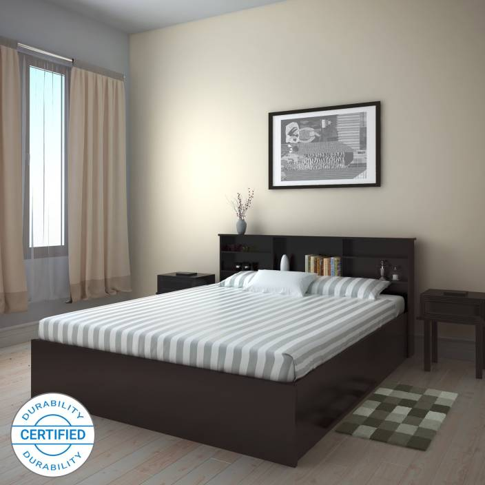 dc876510f8f Flipkart Perfect Homes Opus Engineered Wood Queen Box Bed (Finish Color -  Wenge)