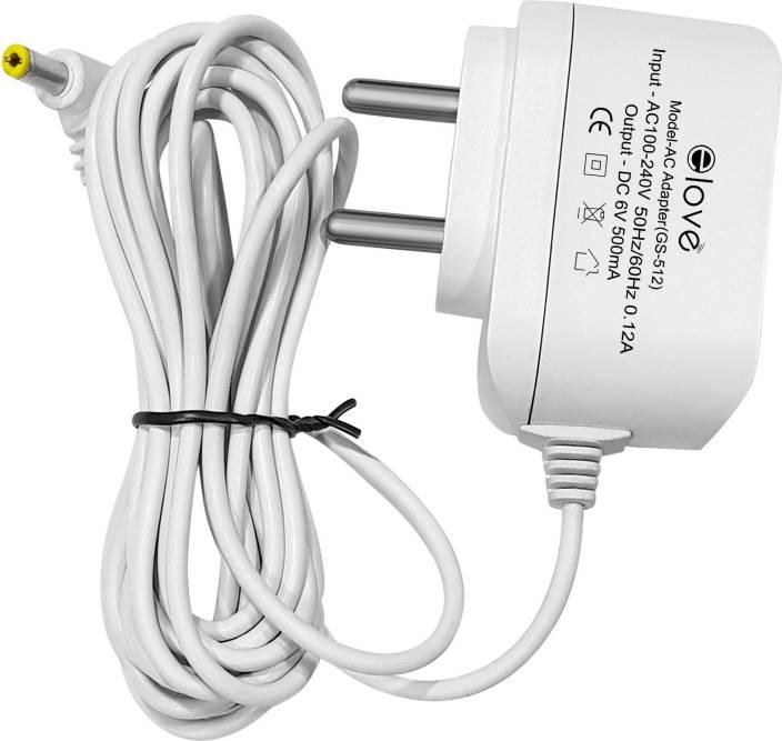 Elove 6V AC/DC Power Adapter for BPM04BL , BPM02 , BPM02T , BPM 03 , BPM01,  BPM01W , BPM04BL , BPM04KBL , BPM02T, BPL 120/80 B3 , BPL 120/80 B5 , BPL