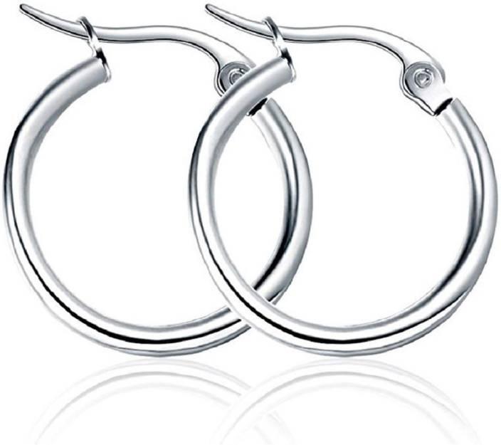 Flipkart Com Buy Tiptop Tiptop Silver Color Hoop Earrings Bali For