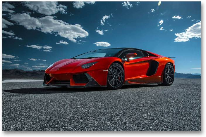 Car Wall Poster Lamborghini Aventador Super Cars Hd Quality