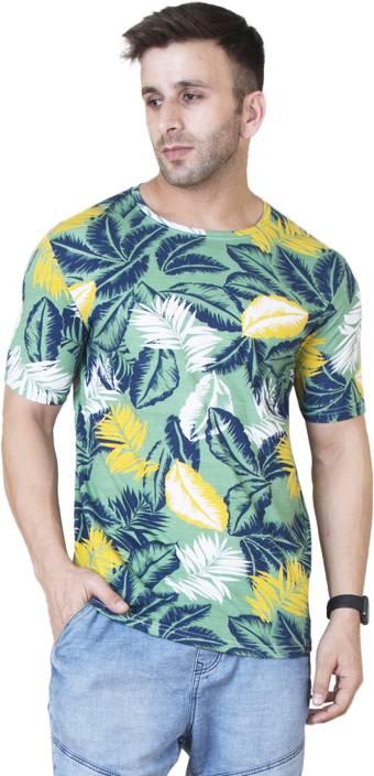 c6898bbd3f54 Veirdo Floral Print Men Round Neck Multicolor T-Shirt - Buy Veirdo ...