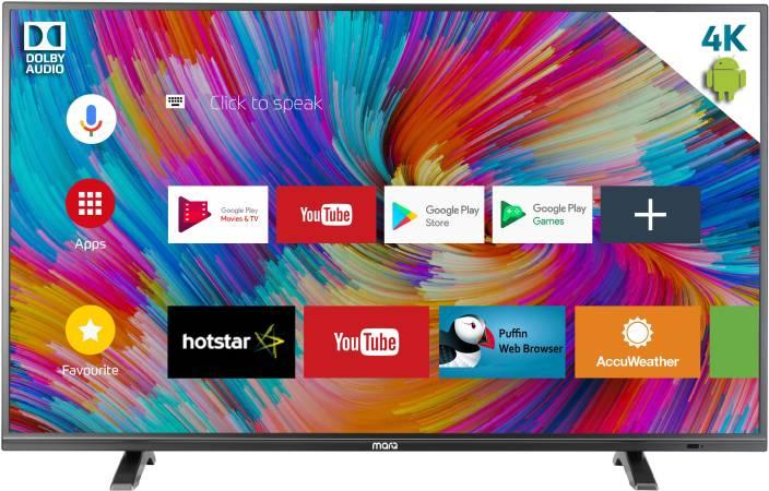 2c50fb4e3de MarQ by Flipkart Dolby Certified Android 49 inch(124 cm) Ultra HD (4K)  Smart LED TV (49SAUHD)
