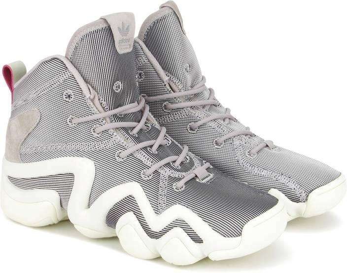 finest selection 9e5ac 8c022 ADIDAS ORIGINALS CRAZY 8 ADV W Basketball Shoe For Women (Grey, Silver)