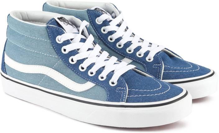 49ffcfaf0e Vans SK8-Mid Reissue Sneakers For Men - Buy (Denim 2-Tone) blue true ...