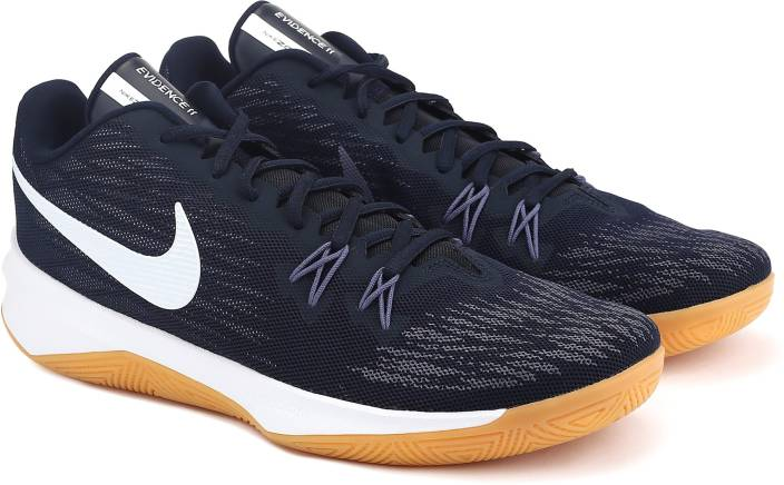 buy online b623e 8b0da Nike ZOOM EVIDENCE II Basketball Shoes For Men (Blue)