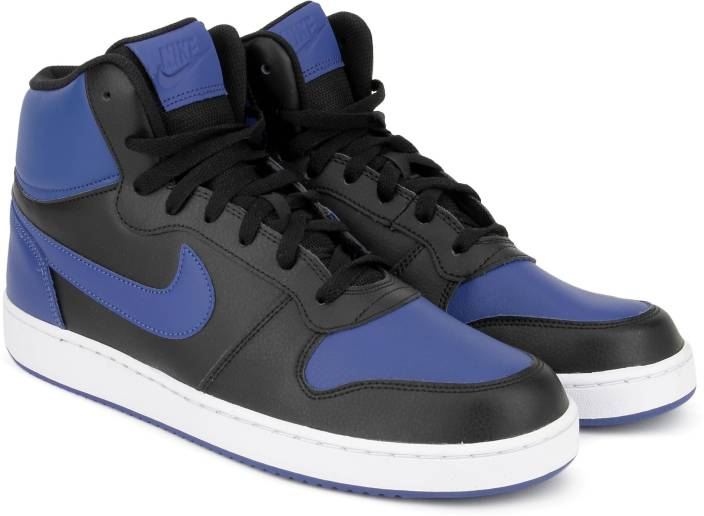 huge discount f88bc 08eaa Nike EBERNON MID Mid Sneakers For Men (Black, Blue)