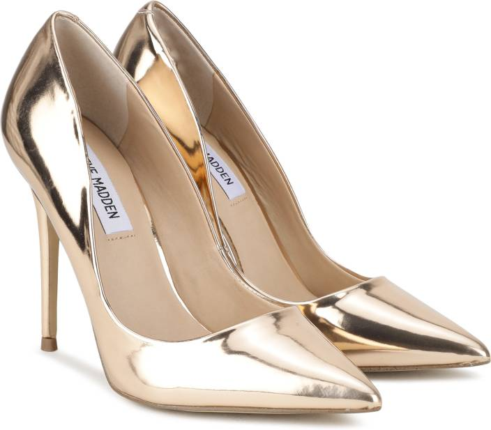 60f48aba386 Steve Madden Women Gold Heels - Buy Steve Madden Women Gold Heels Online at  Best Price - Shop Online for Footwears in India