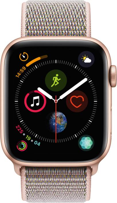 b8afdcc44e31 Apple Watch Series 4 GPS + Cellular, 44 mm Gold Aluminium Case with Pink  Sand Sport Loop (Pink Strap Regular)