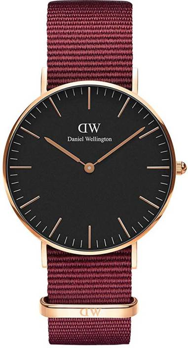 172ef9c9cdc2 Daniel Wellington DW00500147 Classic Roselyn 36mm Rose Gold Black Dial    Blue Bayswater Strap. Watch
