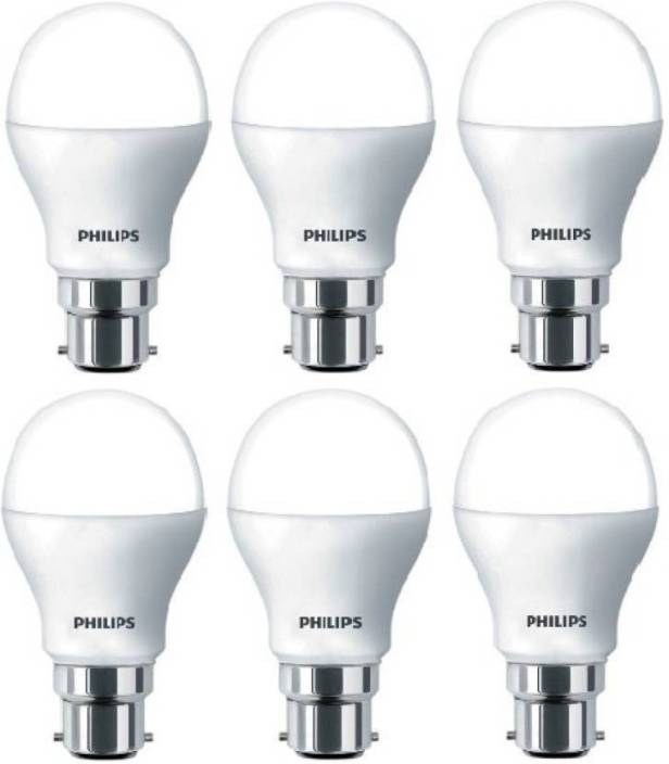 Philips 9 W Round B22 LED Bulb Price in India - Buy Philips 9 W
