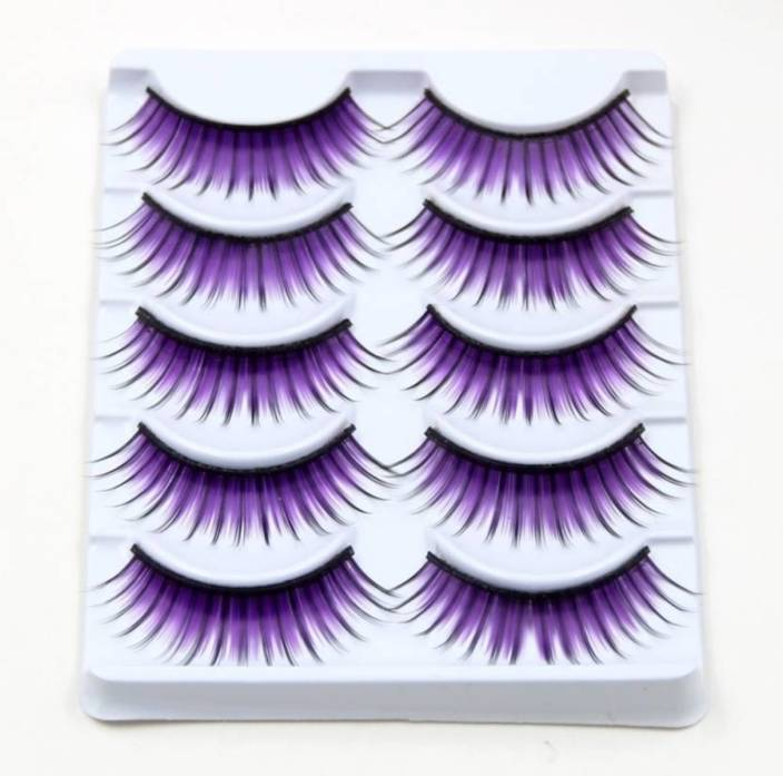 f2c1b1f3ad5 CGT Purple Colored False Eyelash Cross Section Fake Eyelashes For Smoked  Makeup Tool (Pack of 1)