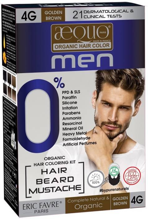 Aequo Organic Men 4g Golden Brown Hair Colour 170ml Derma