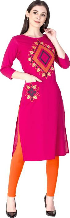 KSHARAA Women's Embroidered Straight Kurta