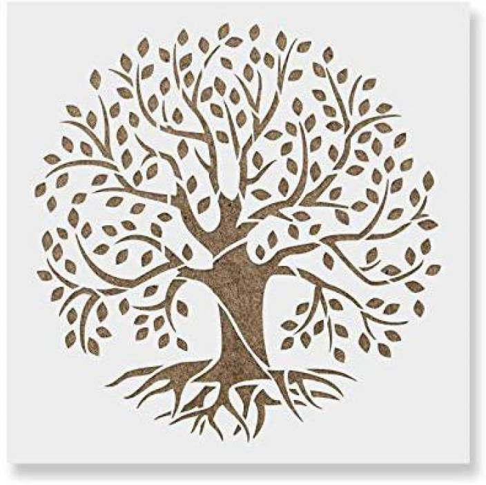77a3748d8 Genrc Tree of Life Stencil Template - Reusable Stencil with Multiple Sizes  Available - Tree of Life Stencil Template - Reusable Stencil with Multiple  Sizes ...