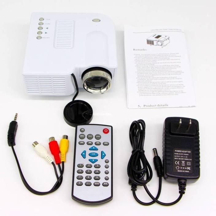 CallStar HD Digital Multimedia Mini LED 40 lm LED Corded Portable Projector (White) Portable Projector