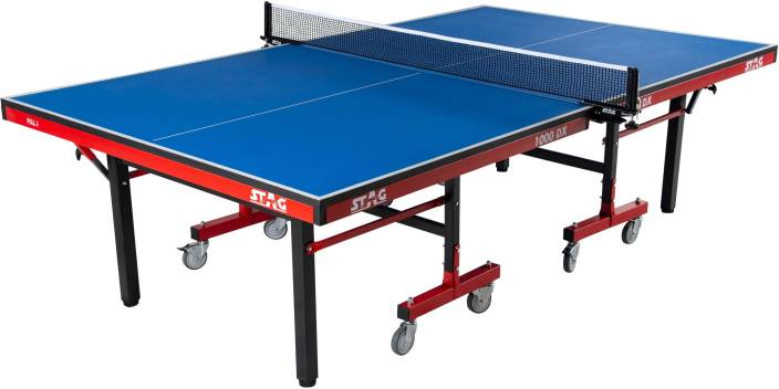 Stag 1000DX International Rollaway Indoor Table Tennis Table (Blue)