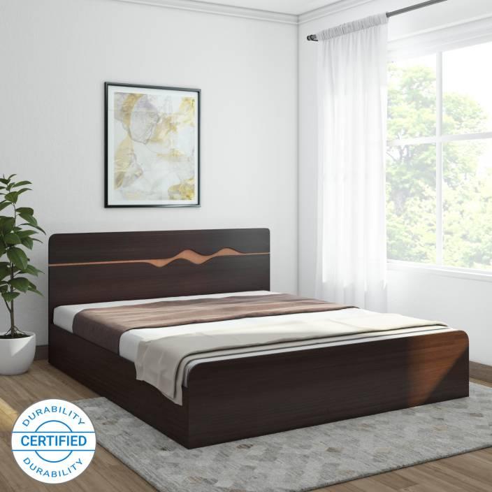 34bff3d85c HomeTown Swirl Engineered Wood King Box Bed (Finish Color - Denver Oak &  Urban Teak)