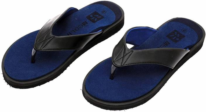 daebd8ad6 Medlife Men's Diabetic & Orthopedic Footwear - Black Flip Flops ...