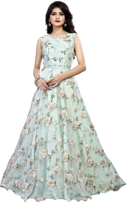 0f5b4b353e67ca Gunj Fashion A-line Gown Price in India - Buy Gunj Fashion A-line ...