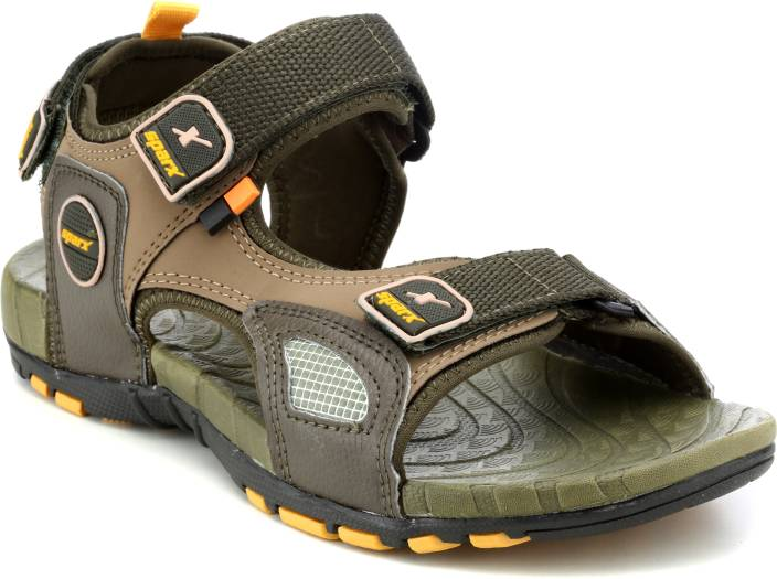 4086322930e252 Sparx Men Olive Yellow Sandals - Buy Olive green