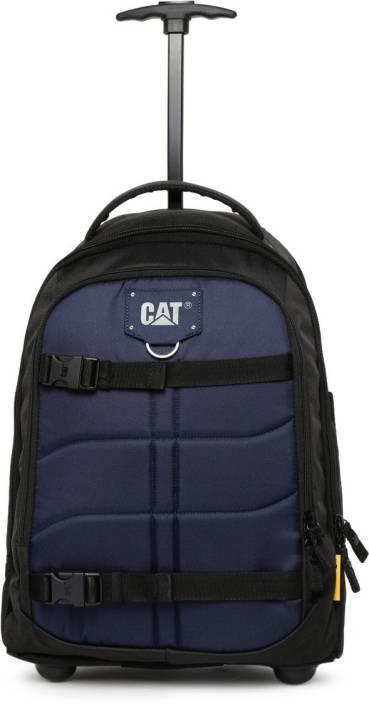 1895efbe328 CAT Millennial Cargo Backpack Trolley Cabin Luggage - 20 inch (Black, Blue)